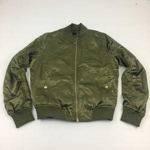 Topshop Bomber Jacket Zip Womens Size 6